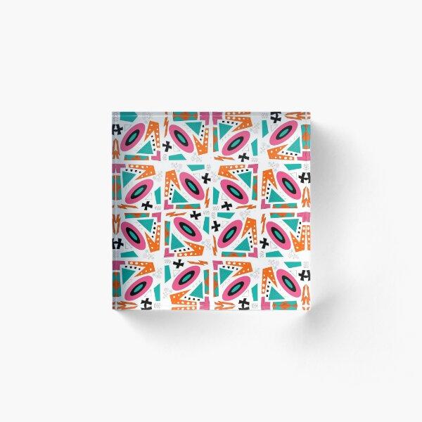 Retro Funkadelic -Seamless pattern collectiom Acrylic Block