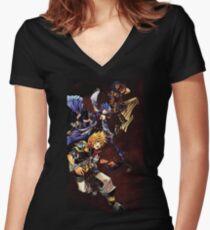 Ventus & Terra & Aqua Women's Fitted V-Neck T-Shirt
