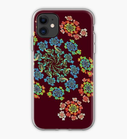 Flowers #Fractal Art iPhone Case