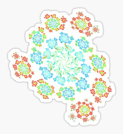 Flowers #Fractal Art Sticker