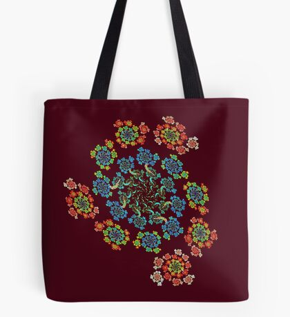 Flowers #Fractal Art Tote Bag