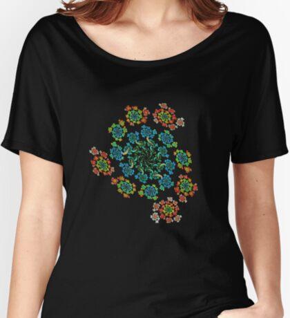Flowers #Fractal Art Relaxed Fit T-Shirt