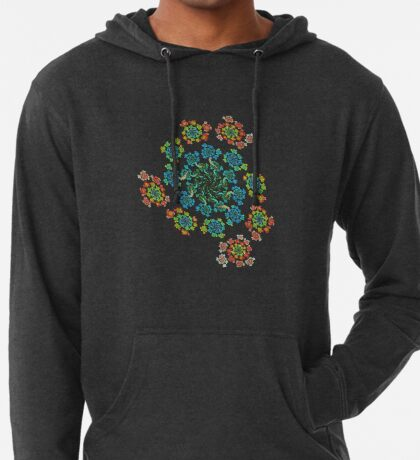 Flowers #Fractal Art Lightweight Hoodie