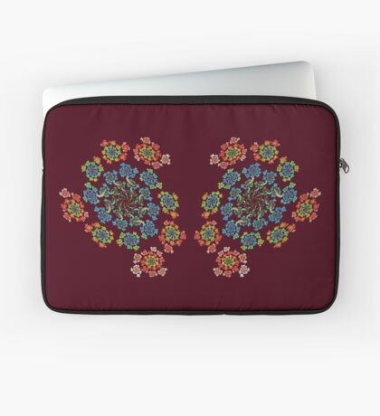 Flowers #Fractal Art Laptop Sleeve
