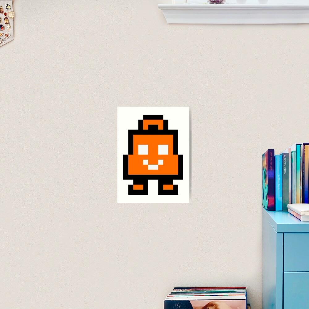Pixel Eshop Bag Art Print By Impishmatt Redbubble