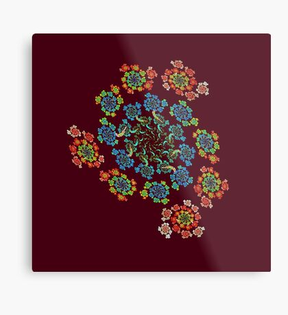 Flowers #Fractal Art Metal Print