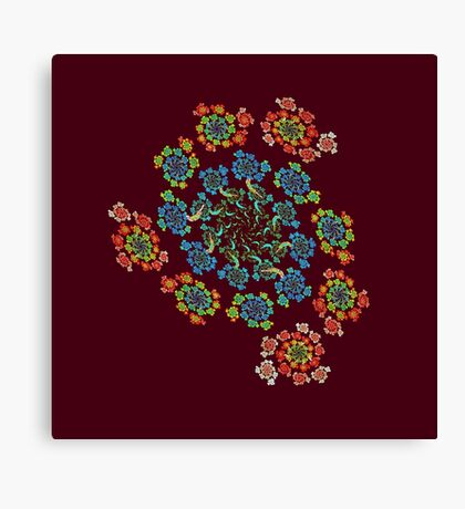 Flowers #Fractal Art Canvas Print