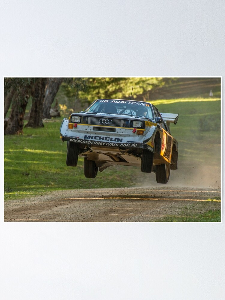 Alternate view of Flying Audi Quattro S1 Poster