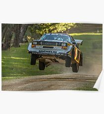 Flying Audi Quattro S1 Poster