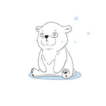 Little Polar Bear Cub by PinataJohn