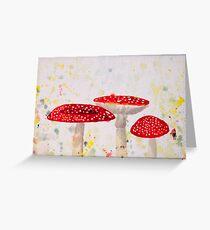 Toadstool Mushrooms Greeting Card