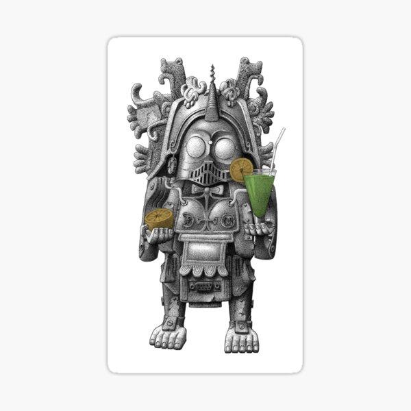 Guzmán, the Totem of Cocktail Robotics Sticker