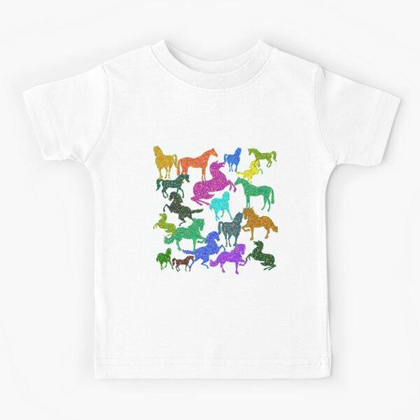 Chevaux arc-en-ciel T-shirt enfant