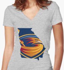 Atlanta Thrashers Women's Fitted V-Neck T-Shirt