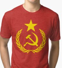 Communist Flag Tri-blend T-Shirt