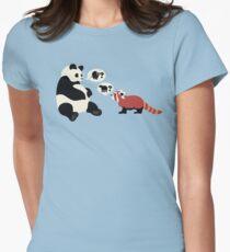 Questioning Pandas Tailliertes T-Shirt