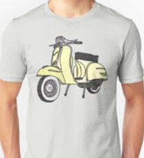 Vespa Illustration - Cream Unisex T-Shirt