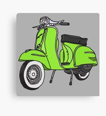 Vespa Illustration - Lime Canvas Print