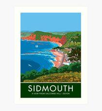 Sidmouth, Devon Art Print