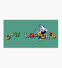 Earthworm Jim - Cow Launched Photographic Print