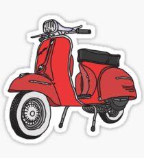 Vespa Illustration - Red Sticker