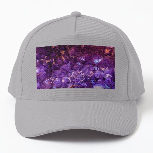 Purple crystals.and stones,  Baseball Cap