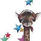 Giraffe with stars by Marianna Vencak