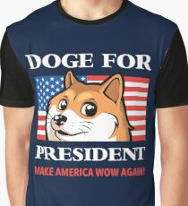 Doge For President Graphic T-Shirt