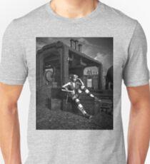 Steampunk Blaze BW Unisex T-Shirt