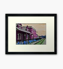 Walking through my technicolor daydream Framed Print