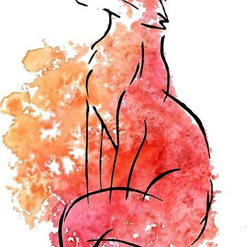 Watercolour Fox by chalk13