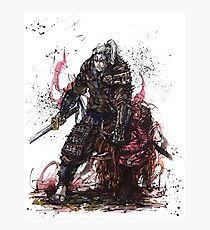 Witcher Geralt Samurai Tribute Photographic Print