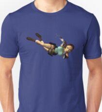 LARA CROFT - Doppel Pistolen Aktion Slim Fit T-Shirt
