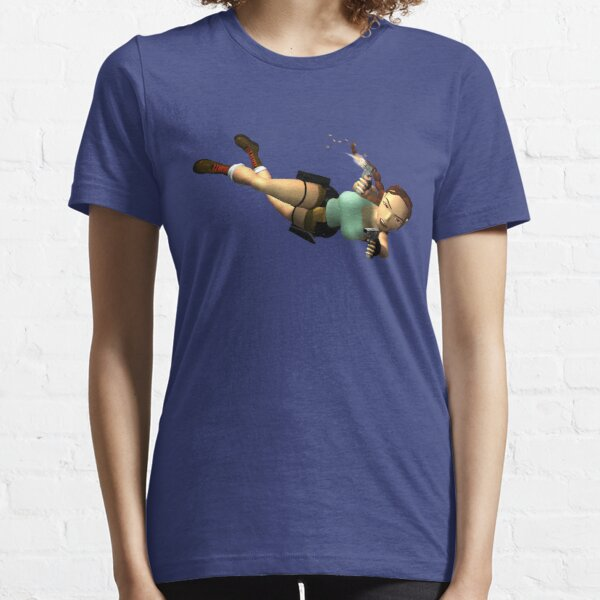 LARA CROFT - Double Pistols Action Essential T-Shirt