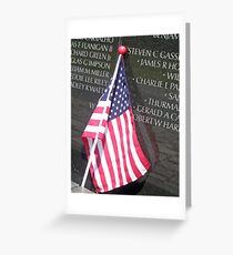 Flag For Fallen Soldier Greeting Card