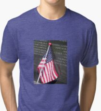 Flag For Fallen Soldier Tri-blend T-Shirt