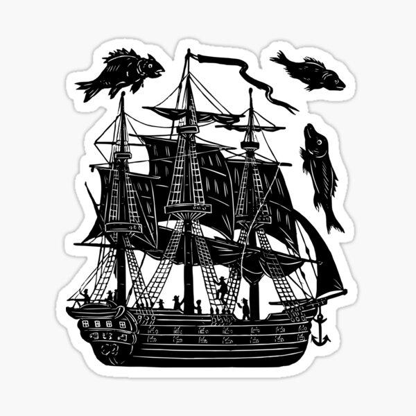 Ship Tattoo Design sticker Sticker