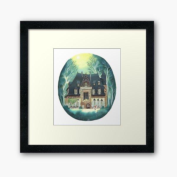 A lost mansion Framed Art Print