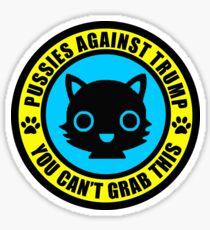 Pussies Against Trump blue Sticker
