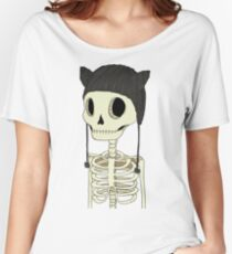 Skeleton Kitty Women's Relaxed Fit T-Shirt