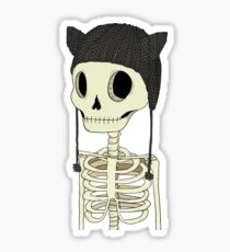 Skeleton Kitty Sticker