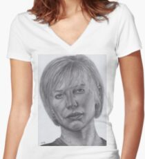 Kara Thrace Women's Fitted V-Neck T-Shirt