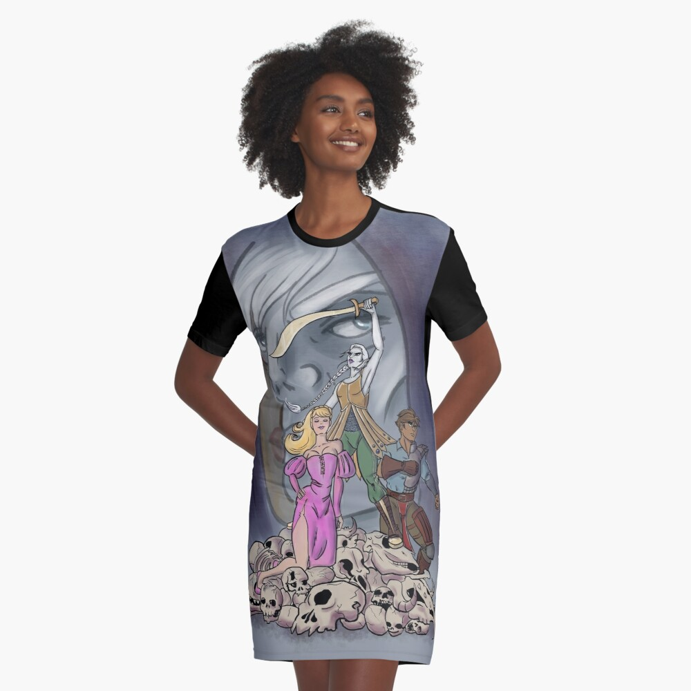 The Adventures of Strongarm & Lightfoot: Assassins Brawl Graphic T-Shirt Dress Front