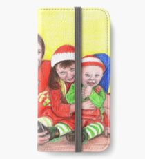 Caskett family at Christmas iPhone Wallet/Case/Skin
