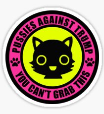 Pussies Against Trump Meow Sticker