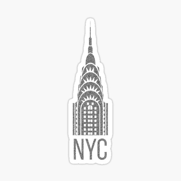 NYC Chrysler Building  Sticker