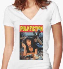 Camiseta entallada de cuello en V Pulp Fiction