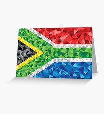 South African Flag Triangles Greeting Card