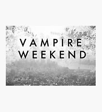 Vampire Weekend Poster Photographic Print