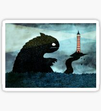 Sea monster & Lighthouse Sticker
